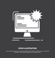 internet layout page site static icon glyph vector image vector image