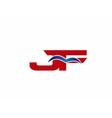 JF Logo Graphic Branding Letter Element vector image vector image