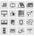 line advertisement icon set vector image vector image