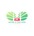 logo tree home vector image