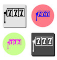 lucky seven on slot machine flat icon vector image
