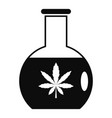 marijuana flask icon simple style vector image