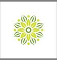 modern flower yoga logo template vector image vector image