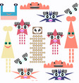 monster seamless pattern it is located in swatch vector image vector image