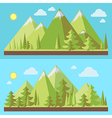 Mountains landscape flat vector image vector image