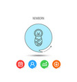 newborn baby icon toddler sign vector image