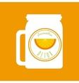 Orange Detox icon Smoothie and Juice design vector image vector image