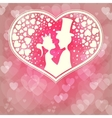 Pink backgroundPrince and Princess vector image vector image