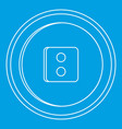 round button icon outline style vector image vector image