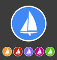 sailing boat yacht icon flat web sign symbol logo vector image