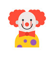 scary clown halloween character icon vector image vector image