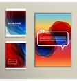 Set of banners for design in abstract style vector image vector image