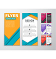 Set of colored flyers material design vector image vector image