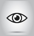 simple eye icon on isolated background business vector image vector image