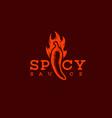 spicy sauce logo vector image vector image