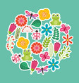 spring flowers natural season pattern vector image