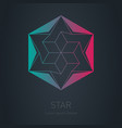 star logo low poly impossible figure lowpoly vector image vector image
