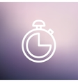 Stopwatch thin line icon vector image vector image