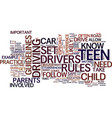teen drivers text background word cloud concept vector image vector image