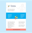 template layout for shells comany profile annual vector image vector image