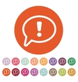 The exclamation mark icon Attention speech bubble vector image