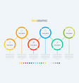 timeline infographic design 6 oprions vector image vector image