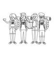 tourist people cartoon vector image vector image