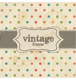 Vintage Template Background vector image