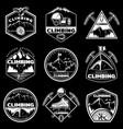 vintage white mountain climbing logos set vector image vector image