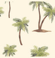 watercolor palm tree pattern vector image