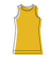 yellow watercolor silhouette of t-shirt without vector image