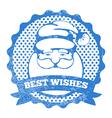 Santa stamp vector image