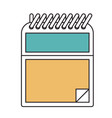 silhouette color sections of notepad with spiral vector image
