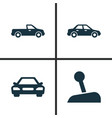 car icons set collection of stick automobile vector image