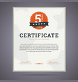 Five stars rating certificate vector image