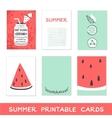 Summer printable cards Detox fat flush water vector image