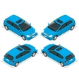 3-door Hatchback car isolated isometric vector image vector image