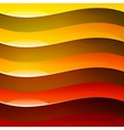 Abstract red orange and yellow shiny wave shapes vector image vector image