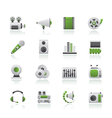 Audio and video icons vector image