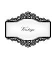 baroque floral frame vector image vector image