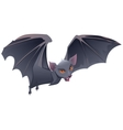 Bat with red eyes and sharp teeth vector image vector image