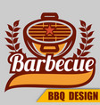 bbq barbecue logo image vector image vector image