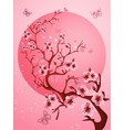 beautiful cherry blossom background spring nature vector image