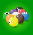 billiard balls start position for nine-pool game vector image