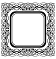 Black frame with ornamental border on white backgr vector image vector image