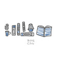 book concept in doodle style vector image