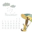 Calendar for November 2014 vector image vector image