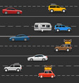 car vehicle traffic transport road travel vector image vector image