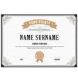 certificate flourishes elegant template vector image