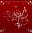 christmas wordmark vector image vector image